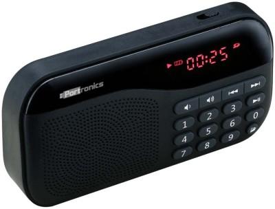 Portronics Plugs POR 141/Plugs Portable Sound system with FM 2.5 W Portable Mobile/Tablet Speaker(Black, Mono Channel)