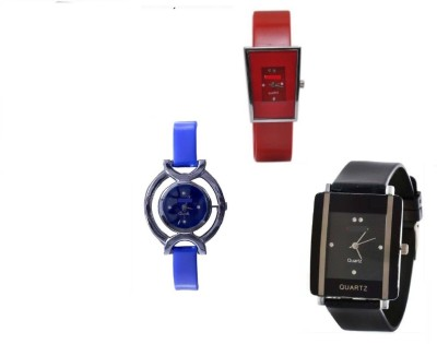 indium PS0210PS glory blue black red pack of 3 beautiful watches for girls Watch Watch  - For Girls   Watches  (INDIUM)