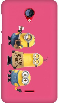 Exclusif Back Cover for Micromax Unite 2 A106(Multicolor,Minions I'm With Stupid Pink, Plastic)