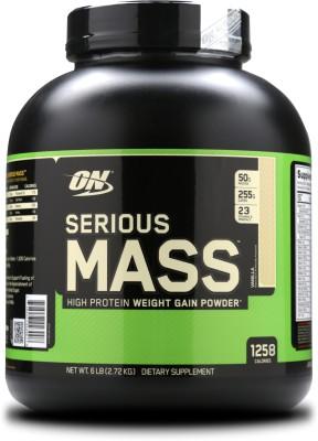 Optimum Nutrition Serious Mass Weight Gainers(2.72 kg, Vanilla)
