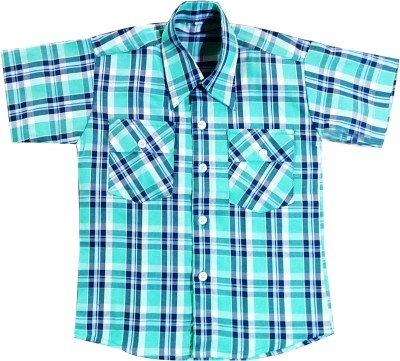 Hrithvi Creation Boys Checkered Casual Slim Shirt