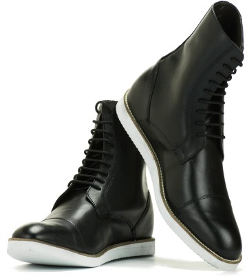 Elevato Elevato height increasing Shoes - Classic Black Light weight Long Boot Boots For Men(Black)  available at flipkart for Rs.3999