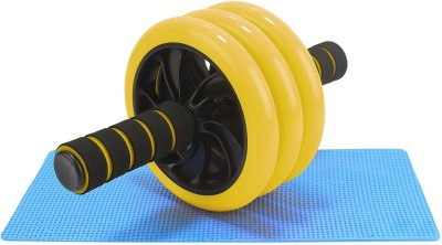 FITSY Triple Wheel AB Roller Exerciser with Knee Mat, 1 Piece, Yellow Ab Exerciser(Yellow)