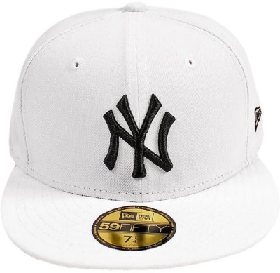74cad946933a4 73% OFF on FAS Embroidered White NY Hiphop and Snapback Cap Cap on Flipkart