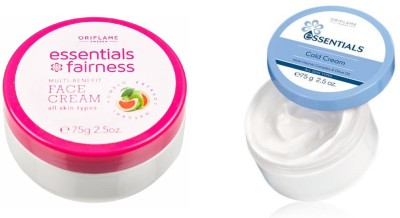 Oriflame Sweden Essential Cold Cream & Essebtial Fairness Multi Benefit Face Cream(Set of 2)  available at flipkart for Rs.378