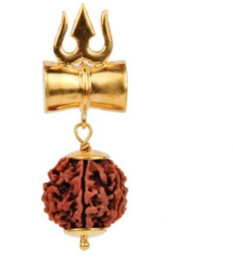 S.Blaze 8 Mukhi/Faced Rudraksha Pendant, Indonesia/ Java Originated, (Bead Size: 10-14mm) With Silver Coated Capping | 100% Original & Natural Rudrakash | Wood Pendant Yellow Gold Beads Wood Pendant  available at flipkart for Rs.251
