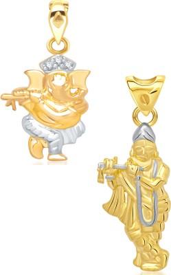 VK Jewels 18K Yellow Gold Cubic Zirconia Alloy Pendant Set