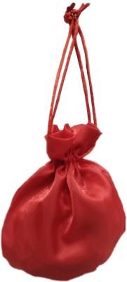Shreeji Decoration Plain Handmade Silk Potli Batwa Pouch Bag Gift For Women Potli(Red)  available at flipkart for Rs.95