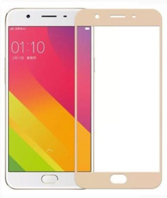 VARAJ Edge To Edge Tempered Glass for Full Screen Color Temperd Glass Screen Protector For Vivo Y66 Gold(Pack of 1)