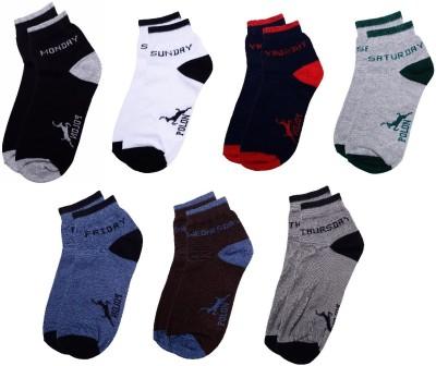 Polon Men's Ankle Length Socks(Pack of 3)