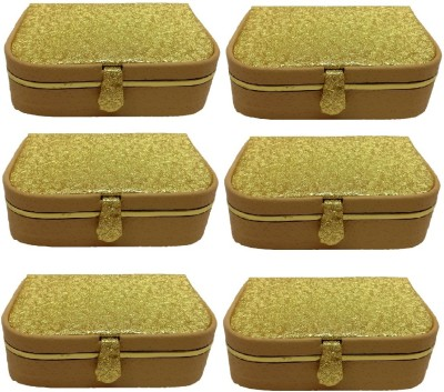 Addyz Gift item - Keeps 12-16 Rings Jewellery Vanity Box(Gold)