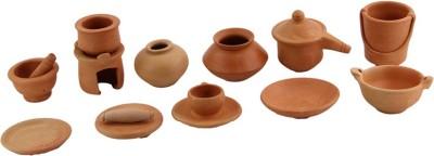 Chumbak Ceramic Vase(12 inch, Blue)
