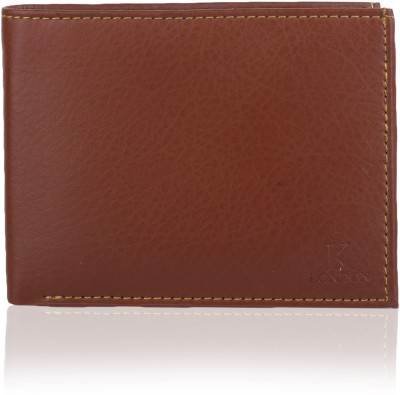 K London Men Casual, Formal Brown Artificial Leather, Fabric Wallet 4 Card Slots