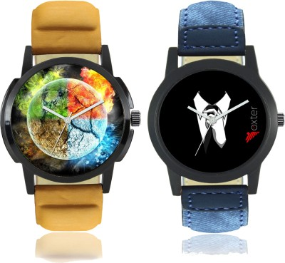 "Talgo ""4 Elements of Earth"" Printed and ""Gentlement"" Printed Analog Dial New Trending Combo of 2 Watch Talgo 2017 New Special (Combo) Collection Of 4 Elements of Earth Printed And Gentleman Printed On Round Shaped Black Dial Analogue Stylish Looked Leather Strap Trendy And New Special Production Fir"