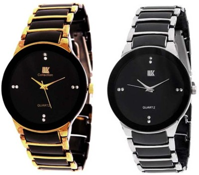 iik Gold & Silver Shine stone Watch  - For Men   Watches  (IIK)