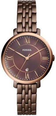 Fossil ES4275 Jacqueline Three-Hand Date Brown Stainless Steel Watch Watch  - For Women (Fossil) Delhi Buy Online