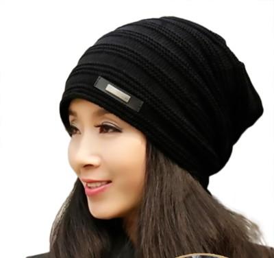 iSweven Woven Winter, Woolen, Fashion, Inside Fur, Skull Cap