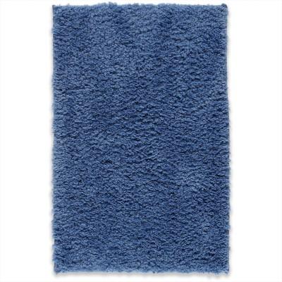 WELHOME Cotton Bathroom Mat Denim Blue, Small