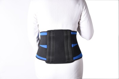 Hiakan Contoured Lumbar Sacral (L.S.) Belt Spondylosis Back Pain Osteoporosis Fracture Injuries Premium ( 90 cm to 100 cm ) Back & Abdomen Support (L, Black/Blue)