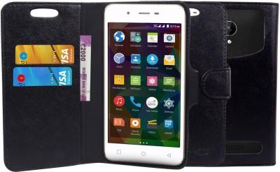 CHAMBU Wallet Case Cover for Rio Mobile Paris(Black, Shock Proof, Artificial Leather)