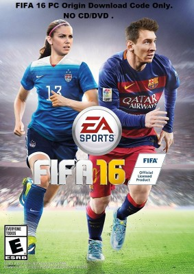 FIFA 16 STANDARD EDITION PC FULL GAME Download code only (No CD/DVD)(Code in the Box - for PC) at flipkart