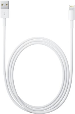 Apple MD819ZM/A Lightning to USB Cable  2 m  Lightning Cable Compatible with Mobile, White, One Cable APPLE Mobile Cables