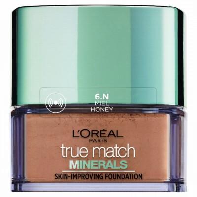 L'Oreal Paris True Match Minerals Skin-ImProving  Foundation(6.N Miel Honey)