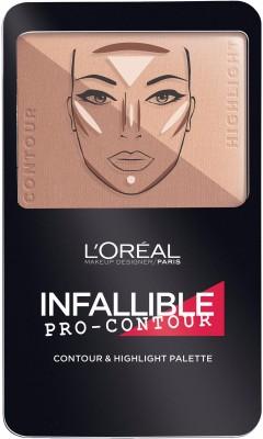 L'Oreal Paris Infallible Pro-Contour Contour&Higlight Palette Foundation(814 Medium Moyen)
