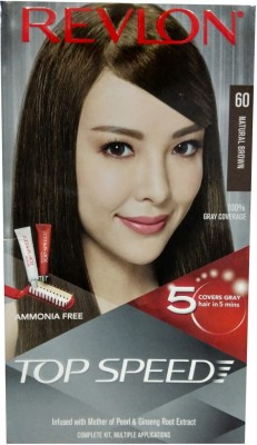 Revlon TOP SPEED 60 (Natural Brown ) Hair Color(Natural Brown)