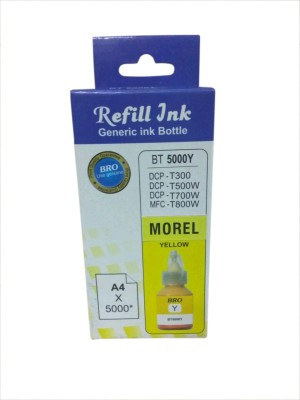 MOREL BT 5000Y INK COMPATIBLE FOR USE IN BROTHER DCP T300 , T500W , T700W , T800W INKJET PRINTER COLOR YELLOW. Single Color Ink Cartridge(Yellow) Flipkart
