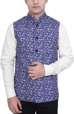Authentic India Sleeveless Printed Men Jacket