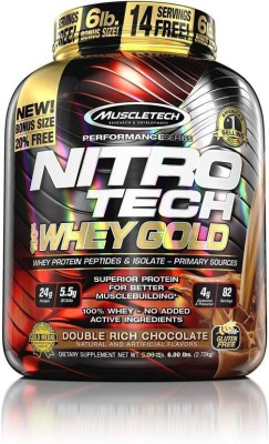 Muscletech Nitrotech Whey Gold Whey Protein(2.72 kg, Double Rich Choclate)