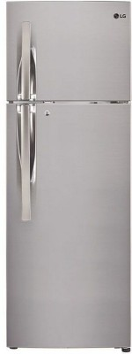 LG 284 L Frost Free Double Door 4 Star Refrigerator(Shiny Steel, GL-T302RPZN)  available at flipkart for Rs.28599