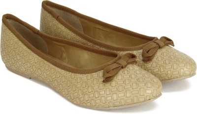 CL by Carlton London CLL-4319 Ballerina For Women(Beige, Brown)