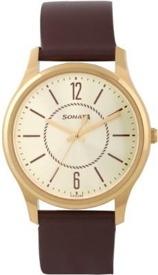 Sonata 77082YL01 Essentials Analog Watch For Men
