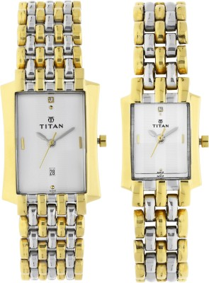 Titan 19272927BM01 Bandhan Analog Watch For Couple