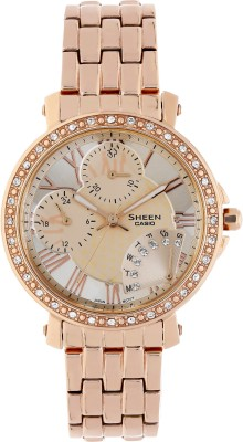 Unique Casio SX143 Sheen rose gold Women Watch