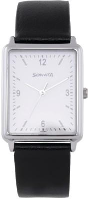 Sonata 77084SL01 Essentials Analog Watch For Men