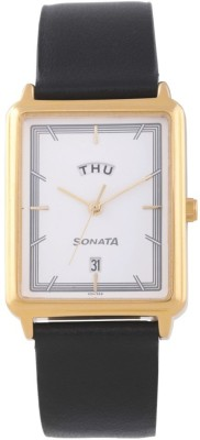 Sonata 77084YL01 Essentials Analog Watch For Men