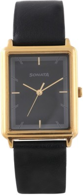 Sonata 77084YL02 Essentials Analog Watch For Men