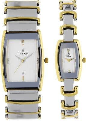 Titan 13772385BM01 Bandhan Analog Watch For Couple