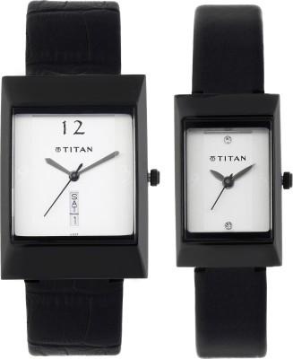 Titan 19572957NL01 Bandhan Analog Watch For Couple