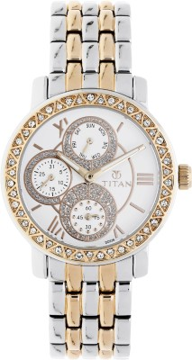 Titan 9743KM01E Purple Glam Gold Analog Watch   For Women Titan Wrist Watches