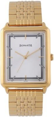 Sonata 77084YM02 Essentials Analog Watch For Men