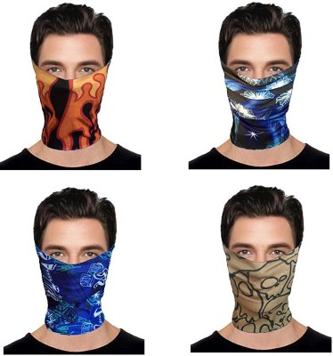 JARS Collections Boys & Girls Graphic Print Bandana(Pack of 4)