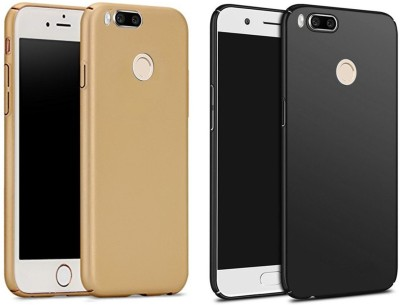 Balacase Back Cover for Mi A1(Gold, Black, Plastic)