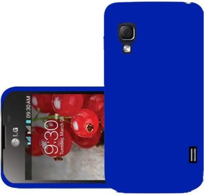 Trap Back Cover for LG Optimus L5 II Dual E455(Blue, Grip Case, Plastic)