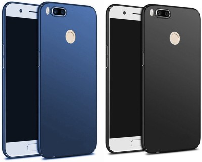 Balacase Back Cover for Mi A1(Blue, Black, Plastic)