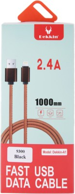 Dekkin 1 Meter Artificial Leather Braided Usb Cable Charging Data Sync With Lightning Connector For Usb IOS Cable APPLE IPHONE 5S/6G/6S OR APPLE SERIES - BLACK USB Cable(Black) Flipkart