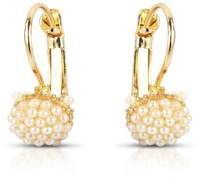Silverstoli Mini-Pearl-Cluster earring Pearl Alloy Drop earring  available at flipkart for Rs.71